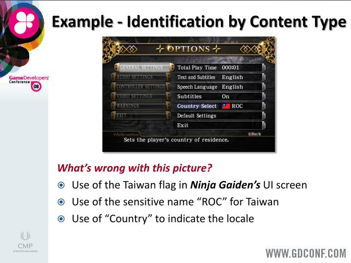 Example - Identification by Content Type