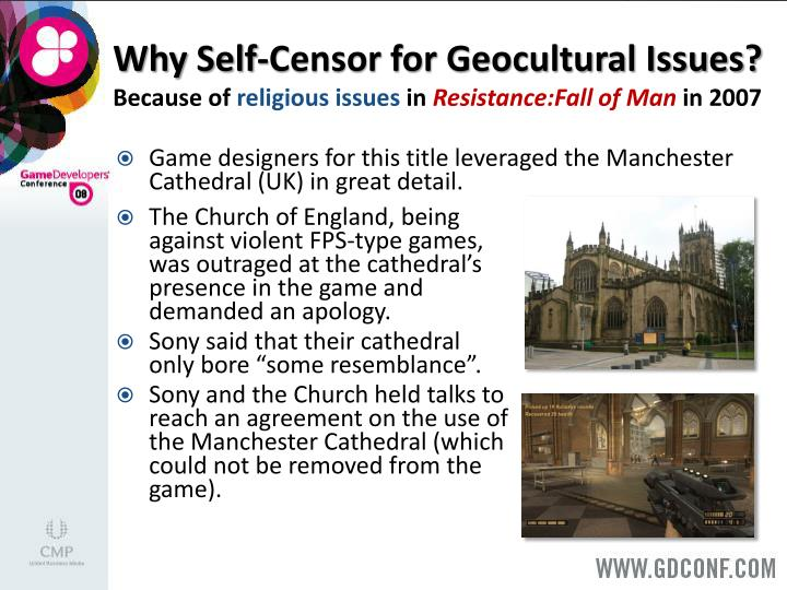 Why Self-Censor for Geocultural Issues?
