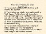 counteract procedural errors continued