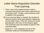 letter name acquisition discrete trial learning1