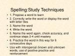 spelling study techniques