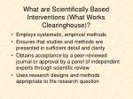 what are scientifically based interventions what works clearinghouse
