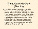 word attack hierarchy phonics