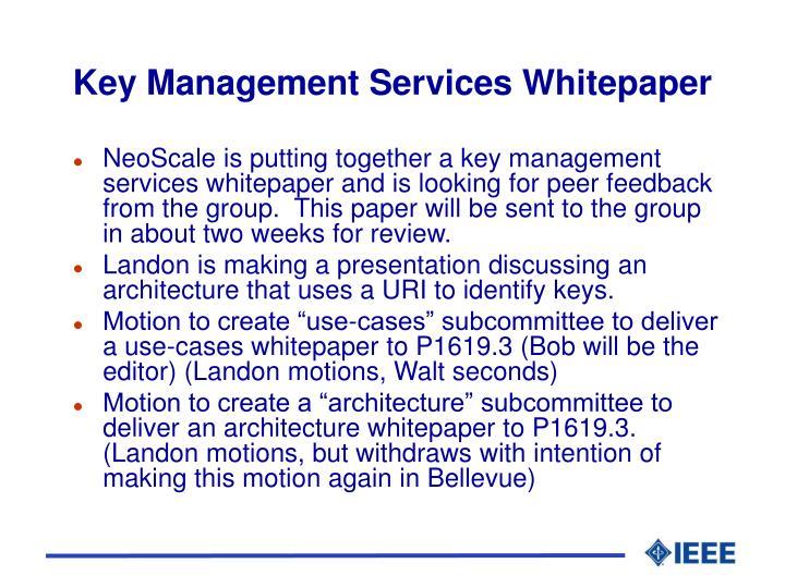 Key Management Services Whitepaper