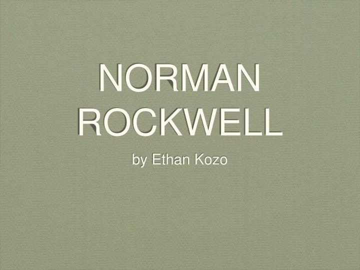 norman rockwell n.
