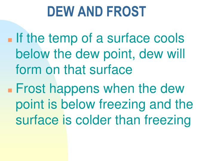 DEW AND FROST