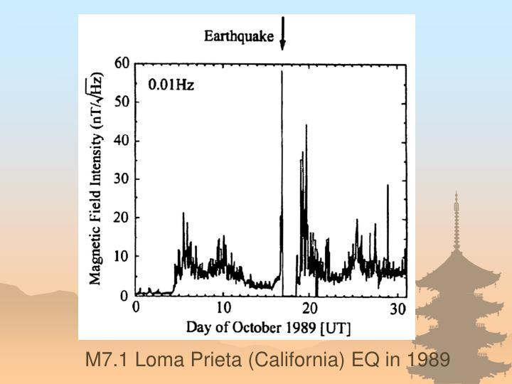 M7.1 Loma Prieta (California) EQ in 1989