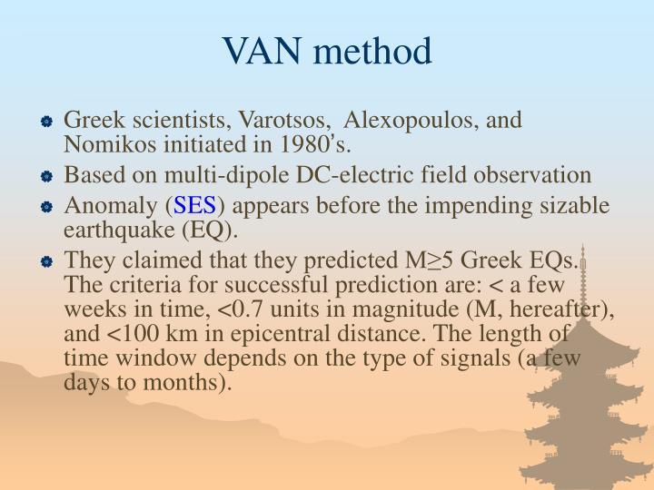 VAN method