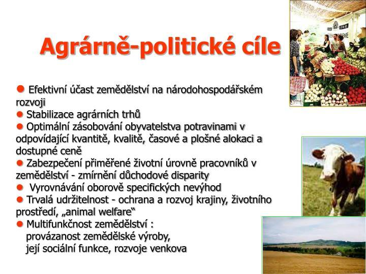 Agrárně-politické cíle