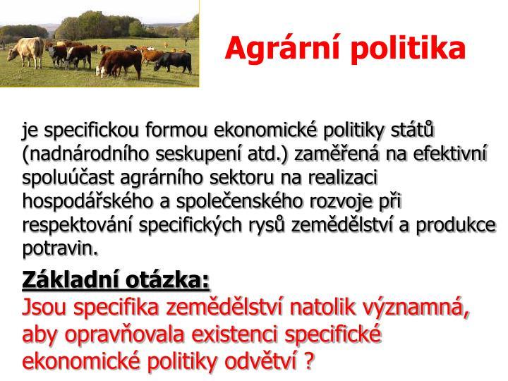 Agrární politika