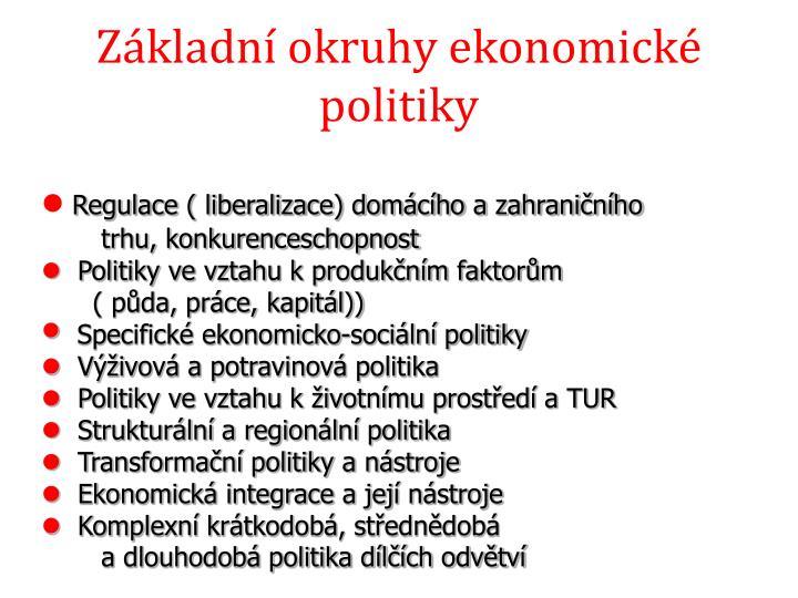 Základní okruhy ekonomické politiky