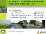 we should classify our roads and set speed limits by function 1 2