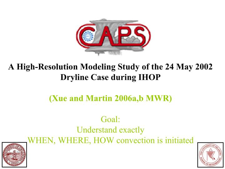 A High-Resolution Modeling Study of the 24 May 2002 Dryline Case during IHOP
