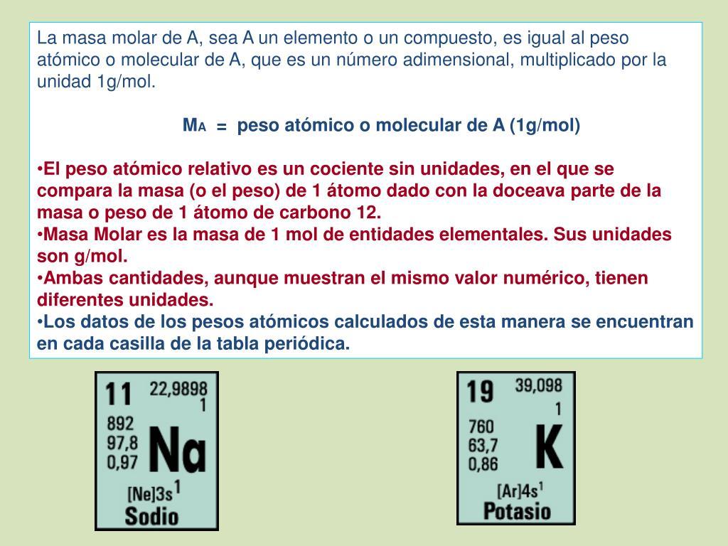 Ppt 2 1 Cantidad De Sustancia 6 Clases 2 1 1 Cantidad De