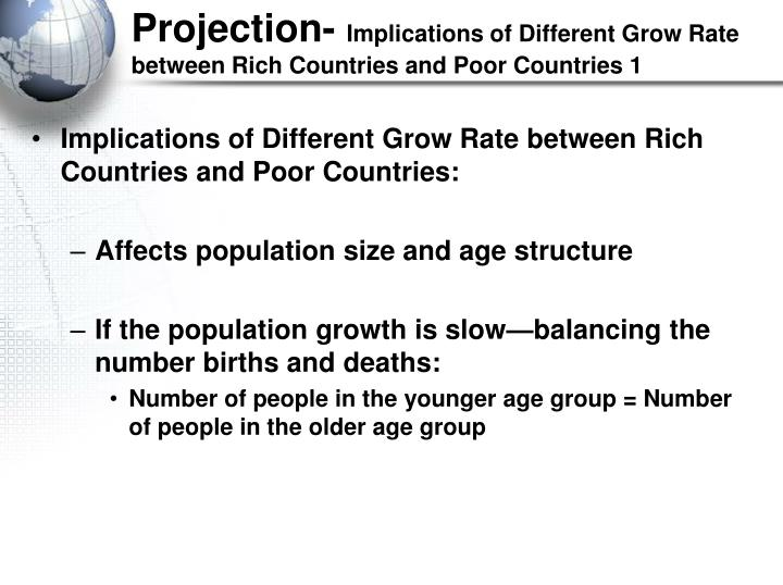 countries grow at different rates because Start studying macro-econ ch 10 learn income is growing at different rates in the in many poor countries limits economic growth because informal.