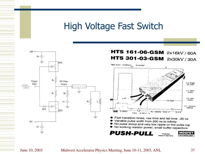 High Voltage Fast Switch