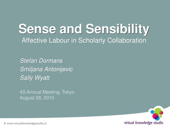 sense and sensibility affective labour in scholarly collaboration n.