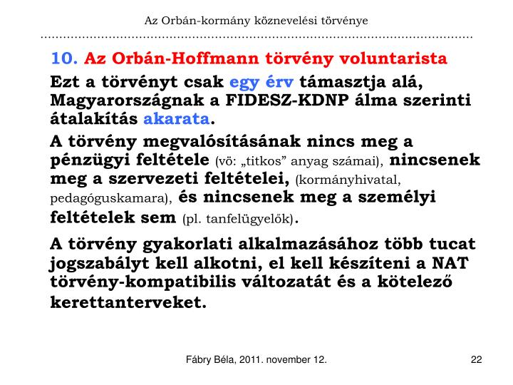 Az Orbán-kormány köznevelési törvénye
