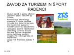zavod za turizem in port radenci