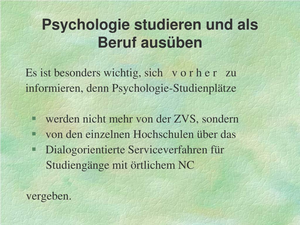 Psychologie Hochschulstart