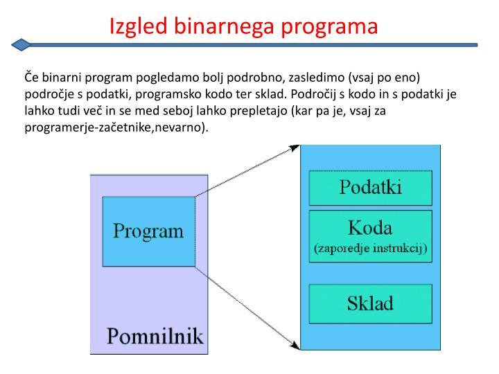 Izgled binarnega programa