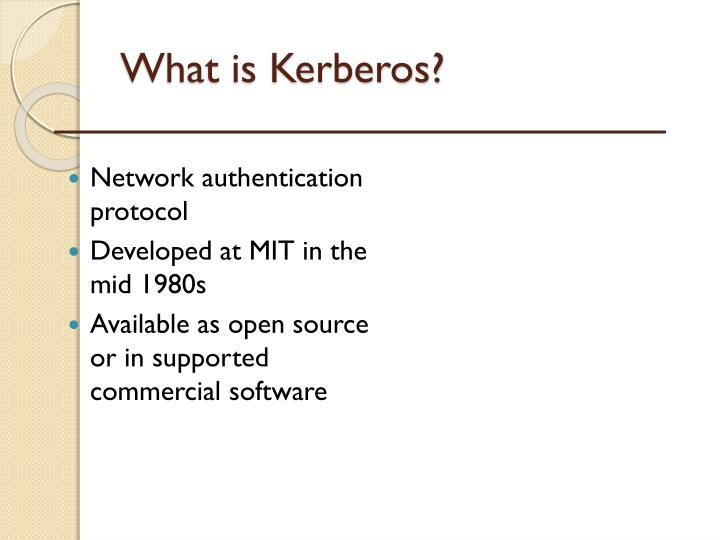 Ppt kerberos authentication systems powerpoint presentation id.