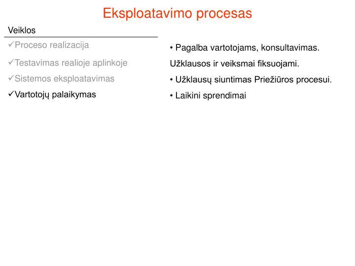 Eksploatavimo procesas