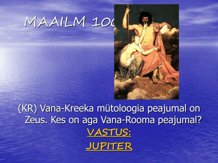 MAAILM 100