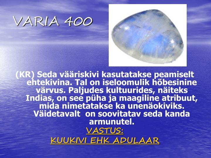 VARIA 400