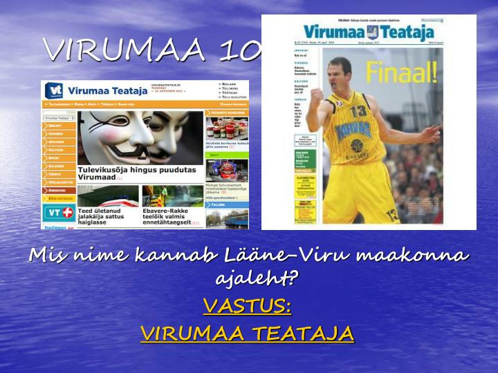 VIRUMAA 100