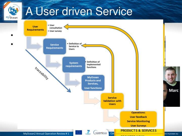 A User driven Service