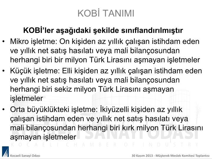 KOBİ TANIMI