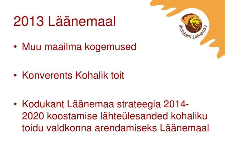 2013 Läänemaal