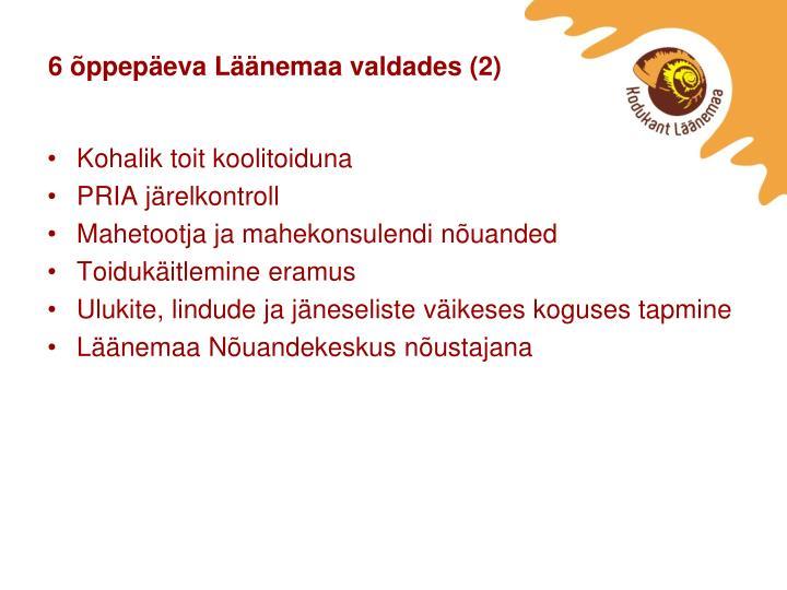 6 õppepäeva Läänemaa valdades (2)
