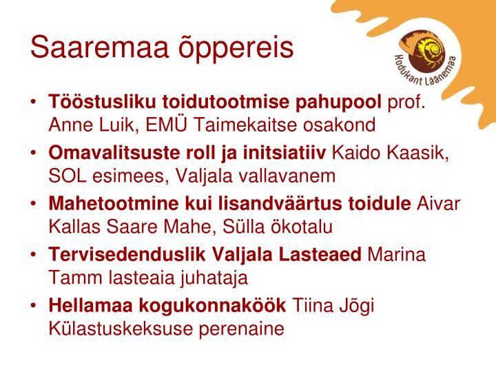 Saaremaa õppereis
