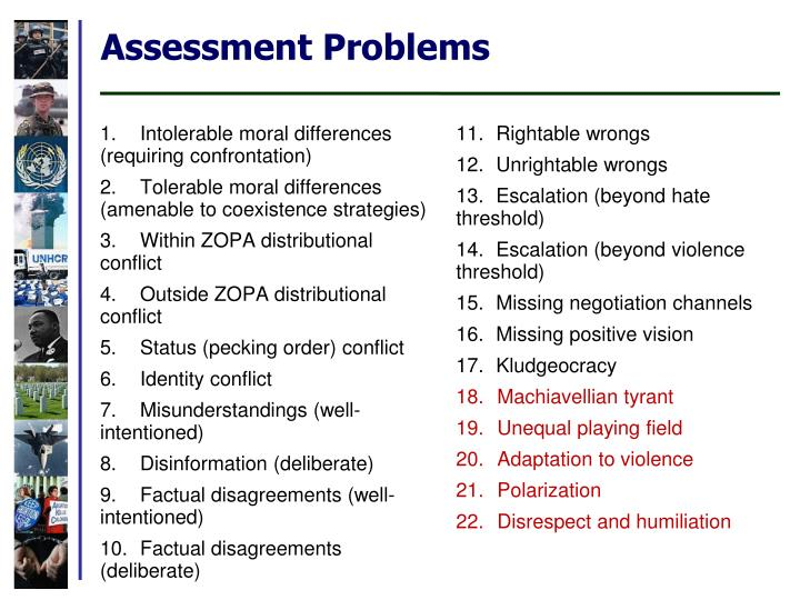 Assessment Problems