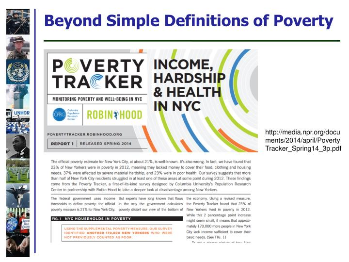Beyond Simple Definitions of Poverty