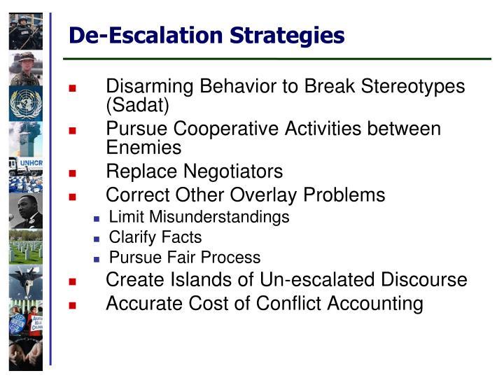 De-Escalation Strategies