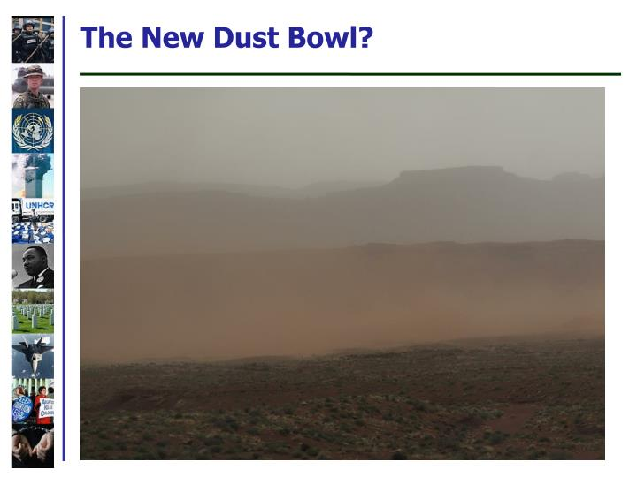 The New Dust Bowl?