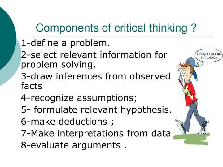 5 components of critical thinking