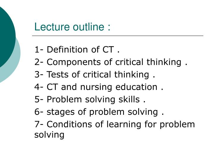 8 components of critical thinking