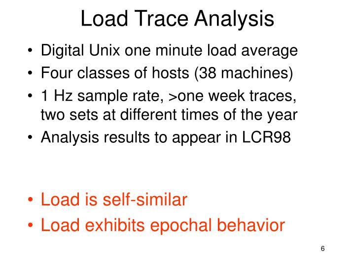 Load Trace Analysis