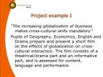project example i