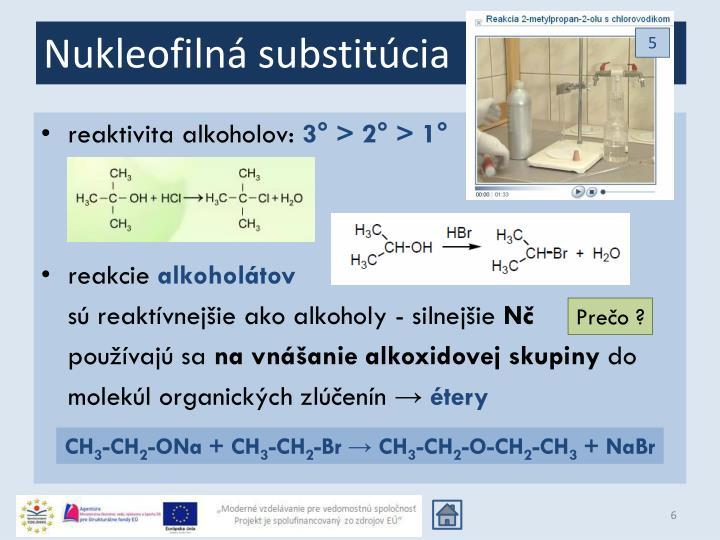Nukleofilná substitúcia