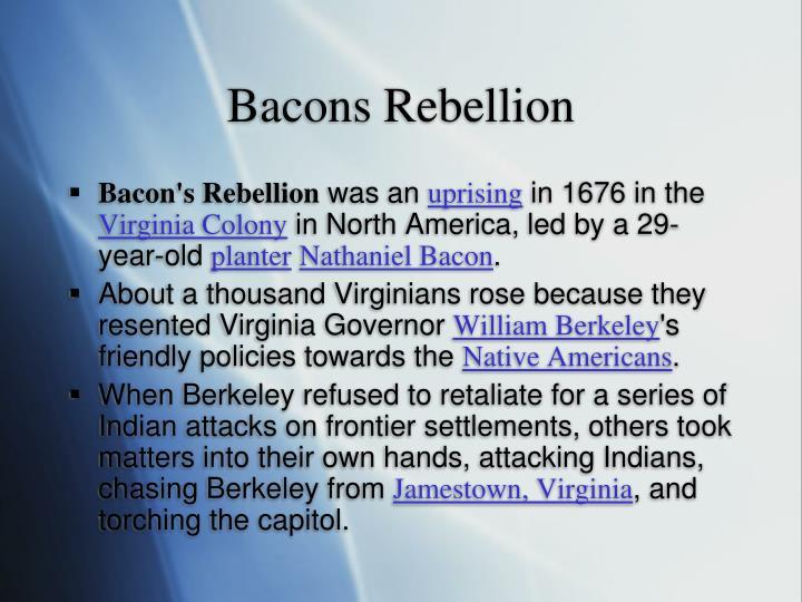 Bacons Rebellion