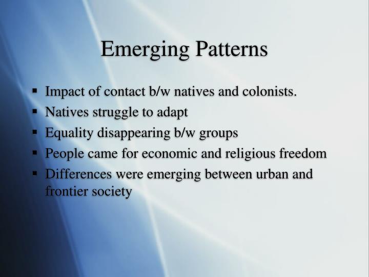 Emerging Patterns