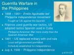 guerrilla warfare in the philippines