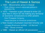 the lure of hawaii samoa