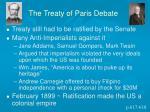 the treaty of paris debate