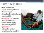 aids hiv in africa